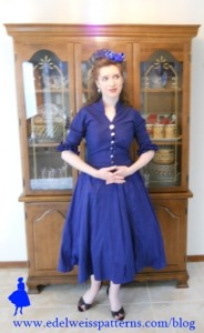 blue-silk-vintage-50s-dress