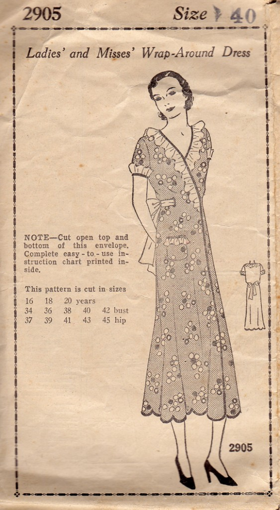 Mail Order Pattern from the 1930s in a 40 Bust
