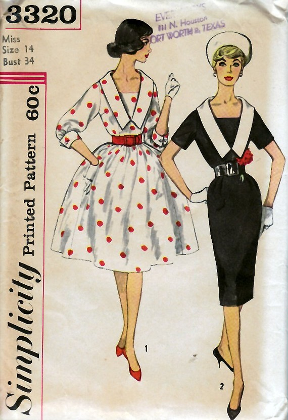 Vintage Simplicity 3320, the pattern
