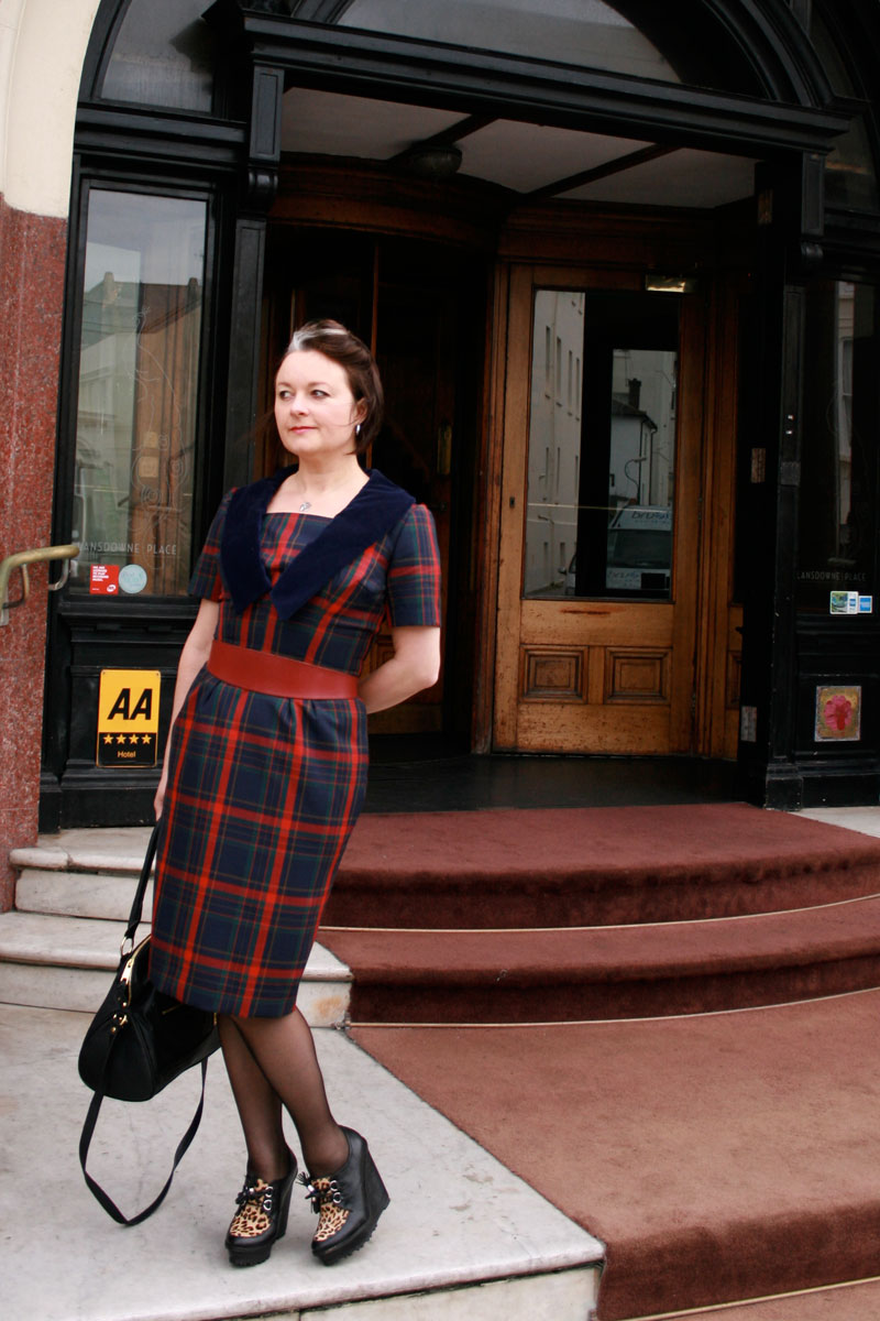 vintage simplicity 3320 in plaid, in Brighton!