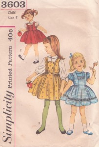 Simplicity 3603 girls vintage dress pattern