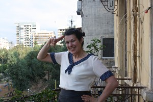 my attempt at a sailor salute!