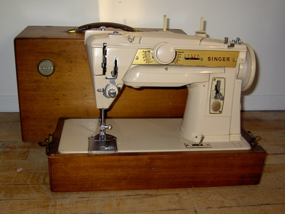 My mother's Singer 411G. I learned to sew on this machine.