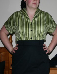 Striped 1950s blouse