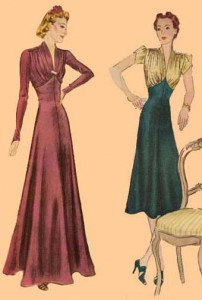 Eva Dress 1939 Evening Frock