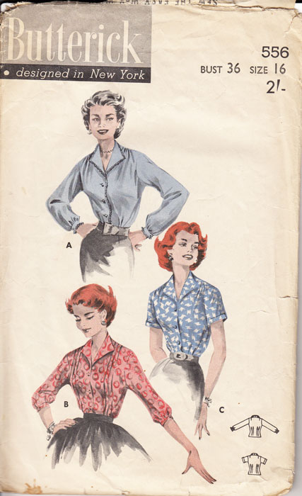 b556 Butterick blouse pattern