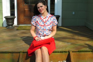 red blouse 046