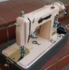Vintage Pink Atlas Sewing Machine