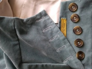 button front trousers