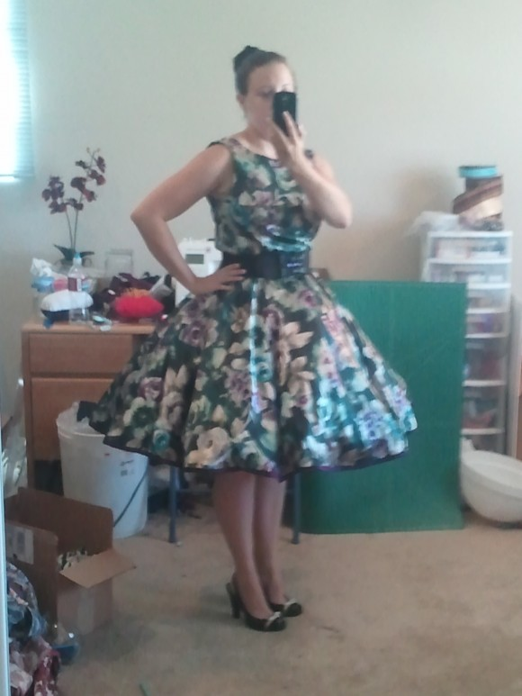 The dress with the cupcake petticoat