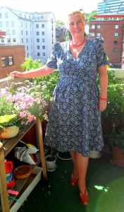 The blue 40s wrap dress