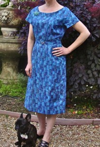View 1, Advance 8617, from 1958  I made this dress first. It has gussets in the sleeves.