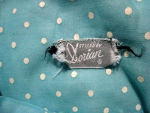 vintage dress label