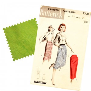 butterick 7720 pattern and swatch