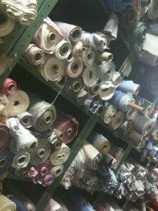 Rolls upon rolls upon rolls of fabric