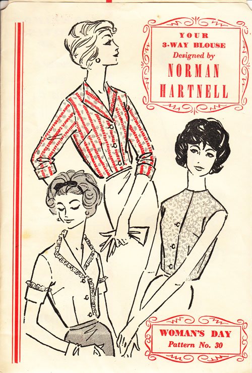 Norman Hartnell blouse pattern