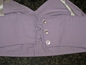 Three Button Back Closure