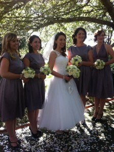Lovely Laura and all us bridesmaids