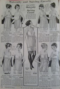 1919's maternity and nursing corsets