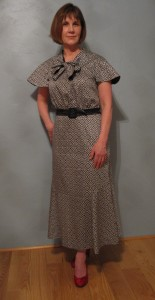 30s dress front view