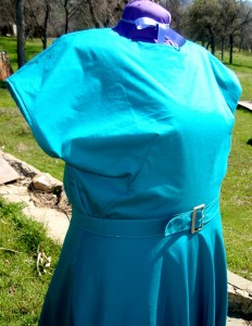 1940 Peacock Blue Cotton Dress