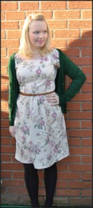 vintage dress with cardigan by madewithhugsandkisses.wordpress.com