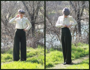 Wearable muslin of Simplicity pants