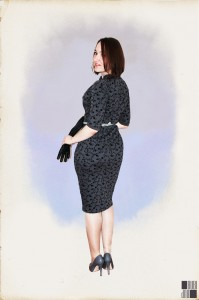 50's wiggle dress - back view