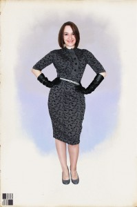 50's wiggle dress - front view