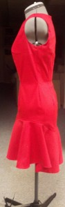 Red Event Dress-Side
