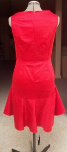 Red Event Dress-Back