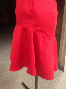 Red Event Dress-Skirt