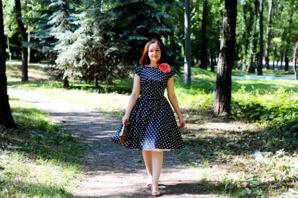 polka-dot new look 50s dress