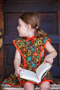 Retro 1940's Du Barry Pinafore Dress for Little Girls, Toddlers, and Babies.