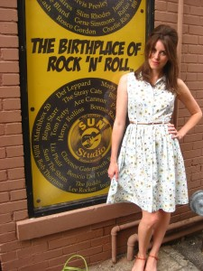Outside the legendary Sun Studios, Memphis