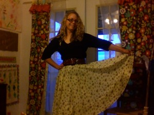 autumn circle skirt