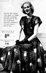 Spiderweb Dress Vintage Ad