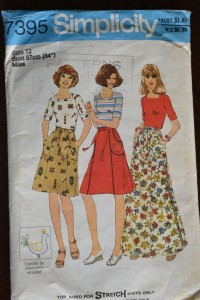 Vintage Simplicity 7395 pattern (dated 1976)