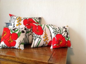 From 1 old, unloved curtain to a family of FANTASTIC cushions