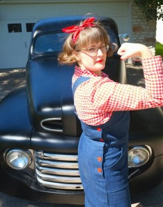Rosie Wednesday Wearing History 1940s Overalls
