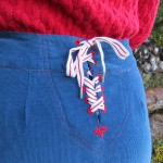Sailor pant lacing close  up
