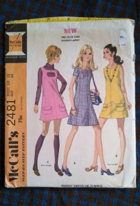 Vintage McCall's 2481 sewing pattern from 1970.