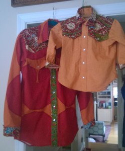 Western Shirts with West African Wax Print Contrasts!