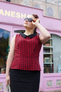 self-drafted retro top