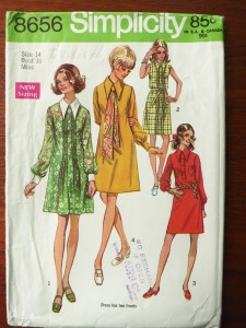 Simplicity 8656 (1969) Those collars!