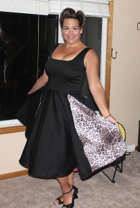 Black and leopard 50's dress