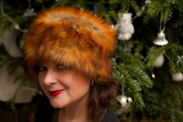 Handmade faux fur hat Doctor Zhivago style