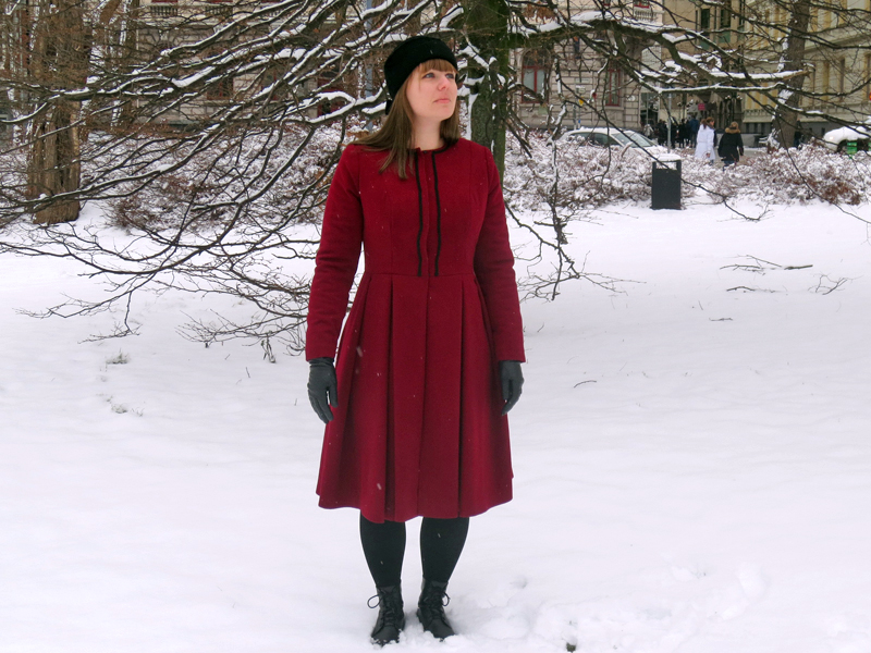 Ruby red winter coat Stina P