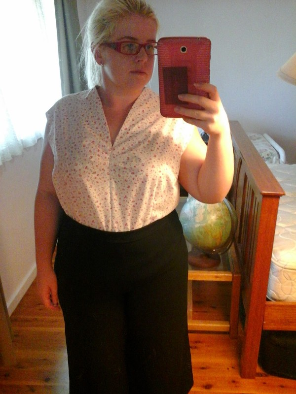 Half made - tucked into some high waisted pants