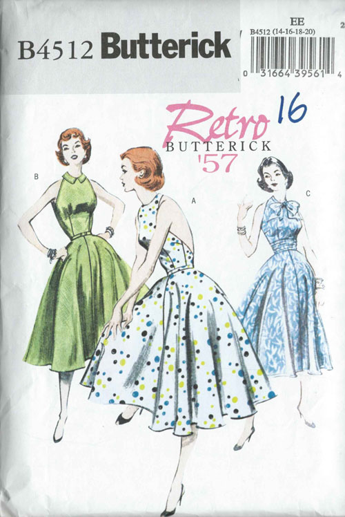 butterick b4512 retro dress
